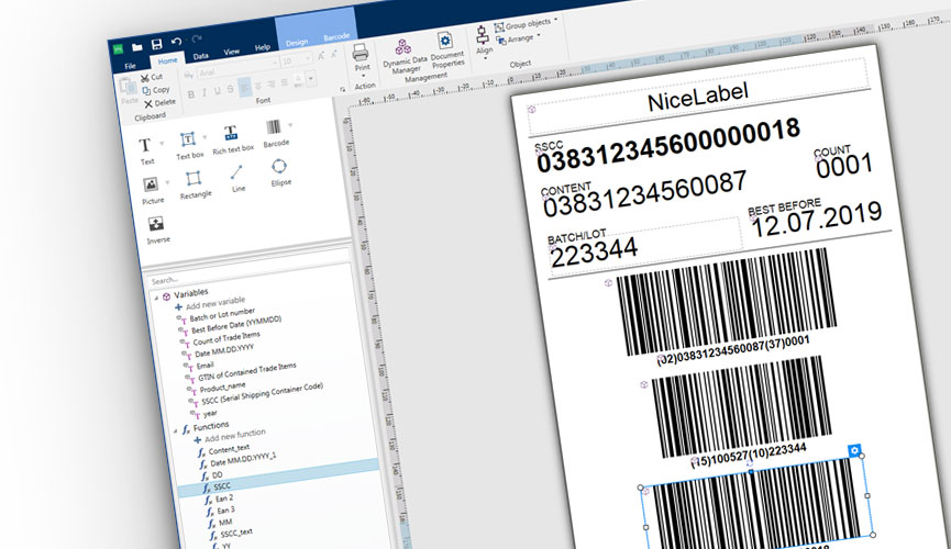 Bar Code and Label Design Printing Software